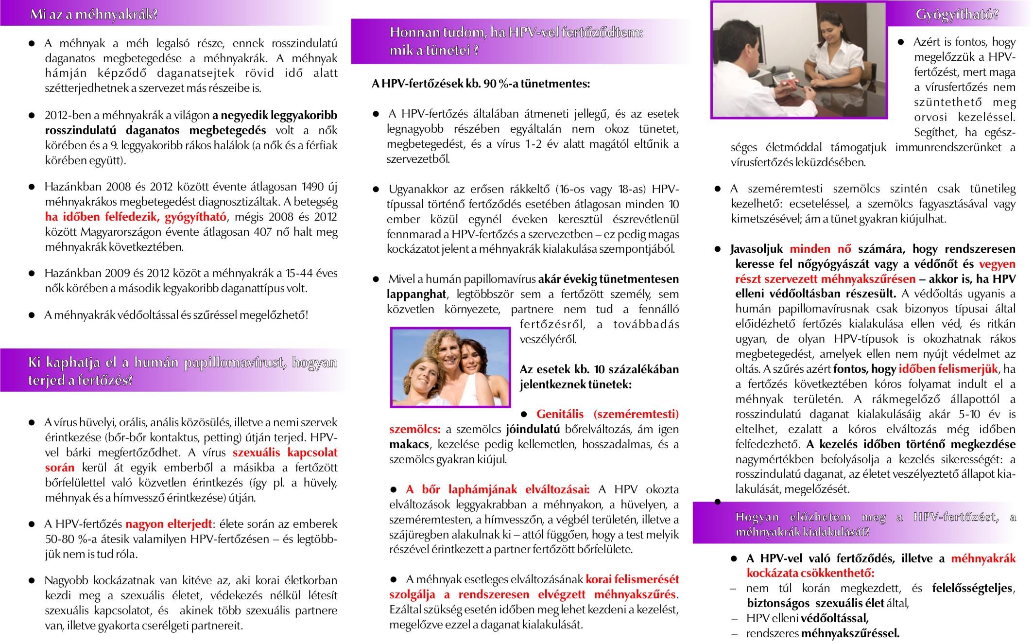 hpv és bőrrel való érintkezés)