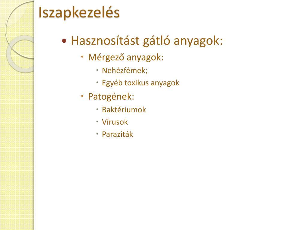 paraziták hőkezelése)
