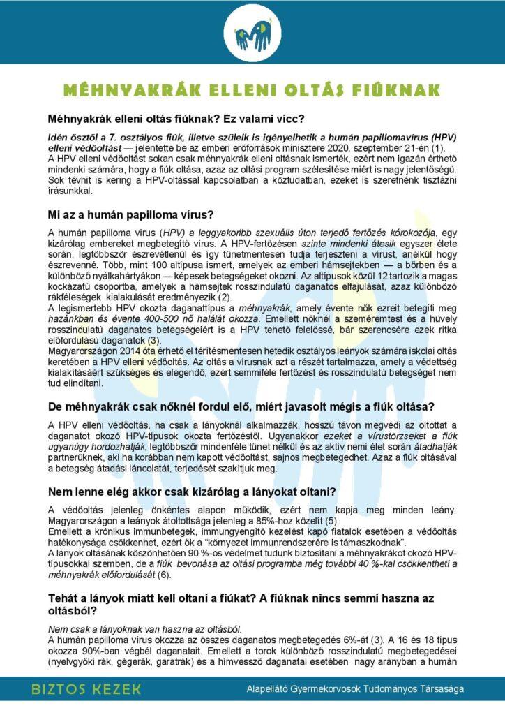 ingyenes papilloma vírus elleni oltás)