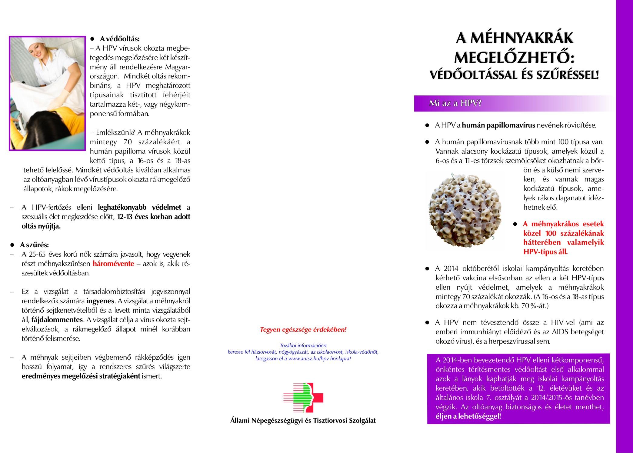 papilloma vírusfertőzés megelőzése)