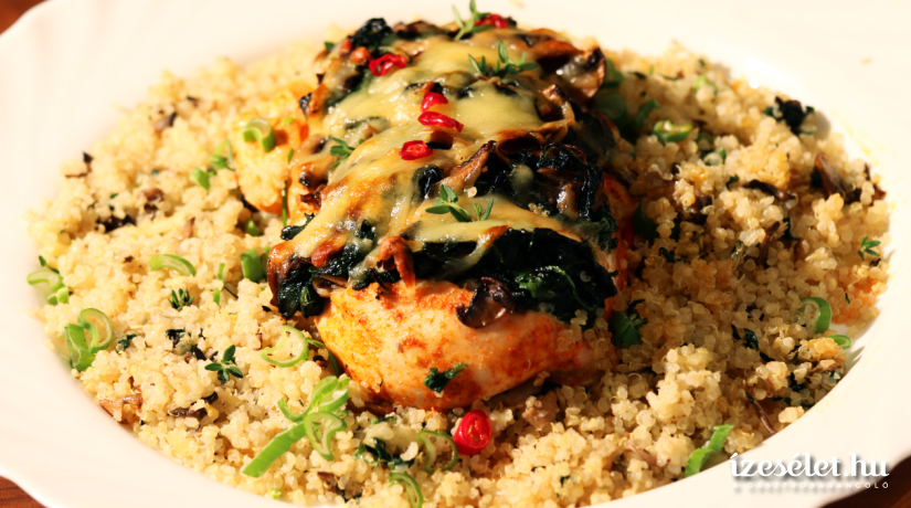 gomba quinoával)