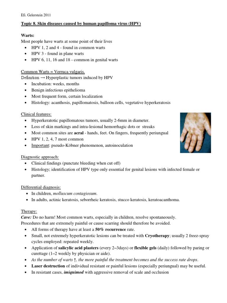 papilloma vírus keratosis